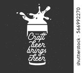 craft beer brings the cheer... | Shutterstock .eps vector #566992270