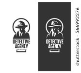 detective agency emblem with... | Shutterstock .eps vector #566992276