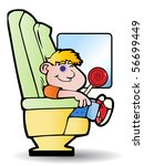 illustration of a boy in a... | Shutterstock . vector #56699449