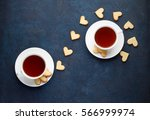 romantic tea party for lovers... | Shutterstock . vector #566999974