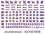 pink banner ribbon label vector ... | Shutterstock .eps vector #567007858