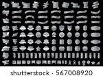 label ribbon banner silver... | Shutterstock .eps vector #567008920