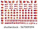 label ribbon banner gold vector ... | Shutterstock .eps vector #567009394