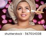 beauty women receiving... | Shutterstock . vector #567014338