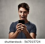 man with smartphone | Shutterstock . vector #567015724