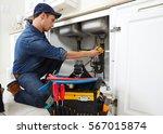plumber. | Shutterstock . vector #567015874