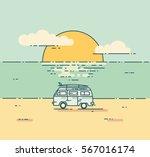 vintage flat line illustration... | Shutterstock .eps vector #567016174