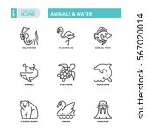 flat symbols about animals and... | Shutterstock .eps vector #567020014