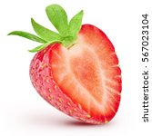 strawberry isolated on white... | Shutterstock . vector #567023104