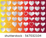 red heart vector icon... | Shutterstock .eps vector #567032104