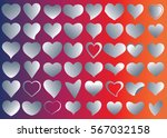 red heart vector icon... | Shutterstock .eps vector #567032158
