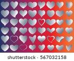 silver heart vector icon... | Shutterstock .eps vector #567032158