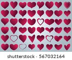 red heart vector icon... | Shutterstock .eps vector #567032164