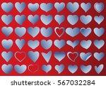 blue heart vector icon... | Shutterstock .eps vector #567032284