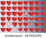 red heart vector icon... | Shutterstock .eps vector #567032290