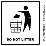 no littering sign vector... | Shutterstock .eps vector #567036370