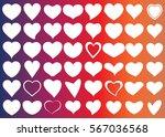 red white heart vector icon... | Shutterstock .eps vector #567036568