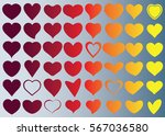 red heart vector icon... | Shutterstock .eps vector #567036580
