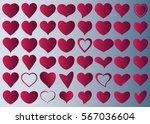 red heart vector icon... | Shutterstock .eps vector #567036604