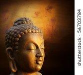 Illustration Of Buddha Golden...