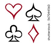playing card suits  icon ... | Shutterstock .eps vector #567044560