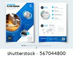 blue brochure design. corporate ... | Shutterstock .eps vector #567044800