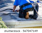 Repairing the roof of a home  a ...