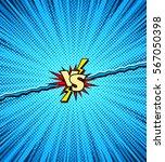 comic book versus template... | Shutterstock .eps vector #567050398