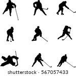 vector silhouettes hockey... | Shutterstock .eps vector #567057433