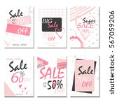 set of 6 discount  cards design.... | Shutterstock .eps vector #567059206