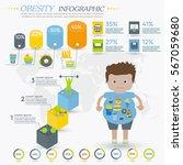 obesity infographics template   ... | Shutterstock .eps vector #567059680