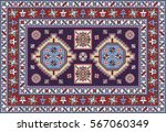 colorful mosaic oriental... | Shutterstock .eps vector #567060349