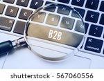 B2b Word Written On Keyboard...
