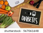 a diabetes test   health... | Shutterstock . vector #567061648
