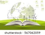 environmentally friendly world. ... | Shutterstock .eps vector #567062059