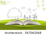 environmentally friendly world. ... | Shutterstock .eps vector #567062068
