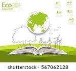 environmentally friendly world. ... | Shutterstock .eps vector #567062128