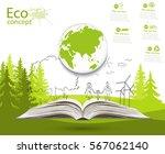 environmentally friendly world. ... | Shutterstock .eps vector #567062140
