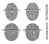 fingerprint scan vector icon   Shutterstock .eps vector #567063208