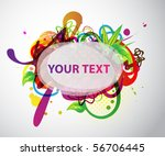 colorful banner with sample text | Shutterstock .eps vector #56706445