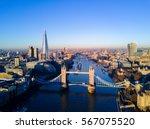 aerial view over tower bridge ... | Shutterstock . vector #567075520