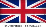 grunge flag of great britain. | Shutterstock . vector #567081184