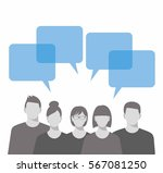 business team. business people... | Shutterstock .eps vector #567081250
