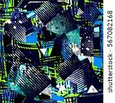 grunge geometric pattern for... | Shutterstock .eps vector #567082168