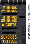 Old Timber Cricket Scoreboard