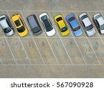 empty parking lots  aerial view. | Shutterstock . vector #567090928