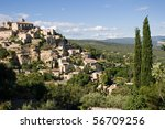 View of Gordes, Provence, France - stock photo