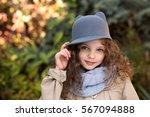 portrait of little cute smiling ...   Shutterstock . vector #567094888