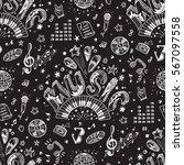 vector music background.... | Shutterstock .eps vector #567097558