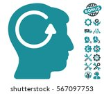 refresh head memory icon with... | Shutterstock .eps vector #567097753